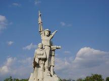 Statua e monumento del soldato vietnamita Immagini Stock Libere da Diritti