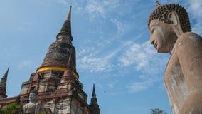 Statua e pagoda antiche di Buddha Fotografia Stock Libera da Diritti