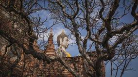 Statua e pagoda antiche di Buddha Immagini Stock Libere da Diritti
