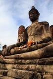 Statua ed antico le rovine Immagine Stock Libera da Diritti