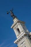 Statua elektryczność na górze energii i technologii muzeum Obrazy Royalty Free