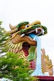 Statua enorme del drago Immagine Stock