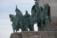 Statua equestre del capo tribale ungherese Immagine Stock