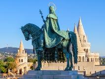 Statua equestre del san Ishtvan Fotografia Stock