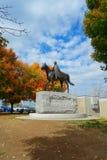 Statua equestre della regina Elizabeth II Fotografia Stock