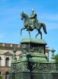 Statua equestre di re John della Sassonia Fotografie Stock Libere da Diritti
