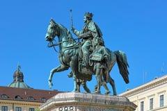 Statua equestre di re Ludwig I a Monaco di Baviera, Germania Fotografie Stock