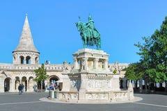 Statua equestre di re Saint Stephen a Budapest, Ungheria Fotografie Stock Libere da Diritti
