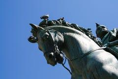 Statua equestre a Firenze Fotografia Stock
