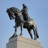 Statua equestre gennaio di Zizka a Praga fotografia stock