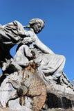 Statua famosa nella città di Lione Immagine Stock
