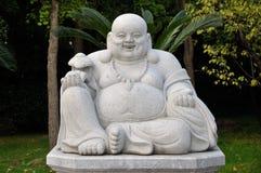 Statua felice del Buddha Immagine Stock Libera da Diritti