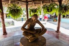 Statua femminile di Taino - Las Caneyes immagini stock libere da diritti