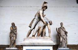 Statua Florence Italy di Palazzo Vecchio Fotografia Stock Libera da Diritti