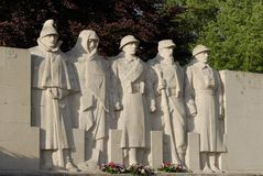 Statua francese del memoriale di guerra Immagini Stock Libere da Diritti