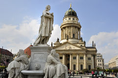 Statua Friedrich Schiller Obraz Royalty Free