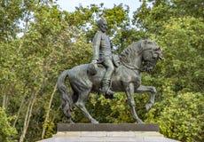 Statua generał Joan Zadbany w Barcelona Obrazy Royalty Free