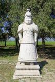 Statua generale di pietra nelle tombe reali orientali di Qing Dyna Fotografie Stock Libere da Diritti