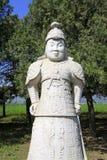 Statua generale di pietra nelle tombe reali orientali di Qing Dyna Fotografia Stock Libera da Diritti
