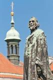 Statua gennaio di Hus Fotografia Stock Libera da Diritti