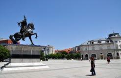 Statua George Kastriot w Pristina zdjęcie royalty free