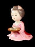 Statua giapponese del geisha fotografia stock