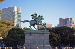 Statua giapponese del samurai Fotografie Stock