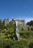 Statua, giardini di Torosay Immagine Stock
