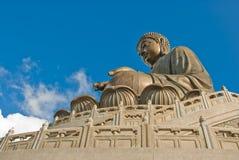 Statua gigante del Buddha, isola di Lantau Fotografia Stock Libera da Diritti