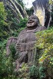 Statua gigante di seduta del Buddha Fotografie Stock Libere da Diritti