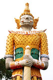 Statua gigante isolata Fotografie Stock