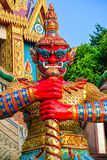 Statua gigante rossa Fotografia Stock