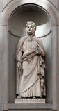 Statua Giovanni Boccaccio, Uffizi, Florencja, Włochy Zdjęcie Stock