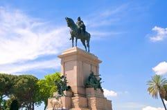 Statua Giuseppe Garibaldi, Gianicolo, Roma, Włochy Fotografia Stock