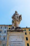 Statua Giuseppe Garibaldi w Lucca, Włochy Obrazy Stock