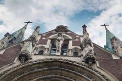 Statua gotica di Jesus Christ Fotografia Stock Libera da Diritti