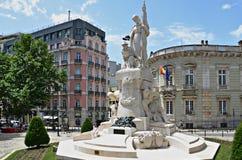 Statua grande di Guerra, Lisbona, Portogallo immagine stock