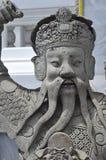Statua in grande palazzo Fotografie Stock Libere da Diritti