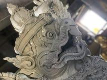 Statua in grande tempio di Buddha immagine stock
