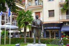 Statua greca dell'eroe nazionale Fotografia Stock