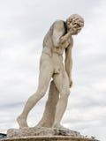 Statua gridante Fotografia Stock