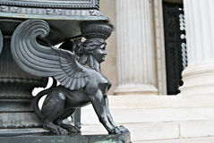 Statua gryf parlament Wiedeń Austria Obraz Stock