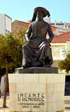 Statua Henry nawigator Portugalski badacz od 15 wiek Obrazy Stock