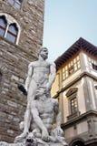 Hercules i Cacus w Florencja. Włochy Zdjęcia Royalty Free