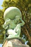 Statua Hercules w Portmeirion, Północny Walia William Brodie Obraz Stock