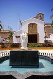 Statua i kościół, Estepona obraz stock