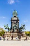 Statua imperatorowa Maria Theresia w Wiedeń zdjęcie royalty free