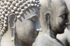 Statua incompleta del buddha, DOF poco profondo Fotografie Stock