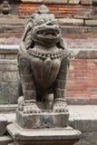 Statua indù di un leone Fotografia Stock
