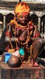 Statua indù - Patan Fotografie Stock Libere da Diritti